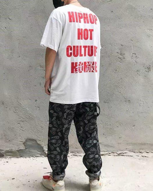 《2色》バンダナ柄ペイズリー HIPHOP Tシャツの画像2